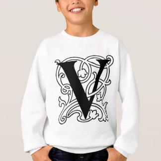 手紙Vのモノグラム スウェットシャツ