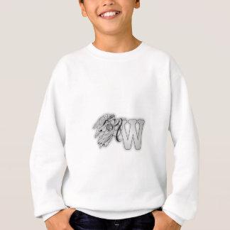 手紙Wの天使のモノグラムのイニシャル スウェットシャツ