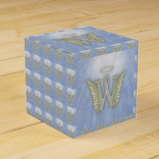 手紙Wの天使のモノグラム フェイバーボックス