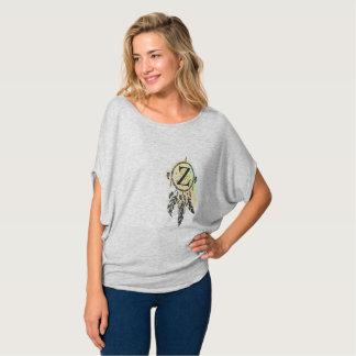 手紙Zの女性のワイシャツ Tシャツ