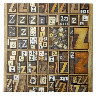 手紙Z 正方形タイル大