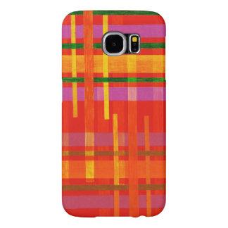 手織りの格子縞のSamsungの銀河系S6の箱 Samsung Galaxy S6 ケース
