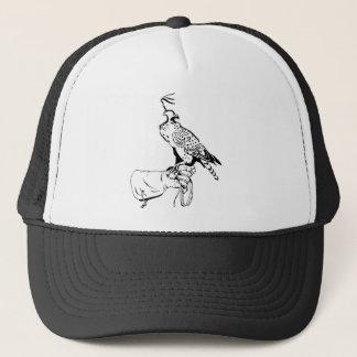 手袋の帽子の《鳥》ハヤブサ キャップ