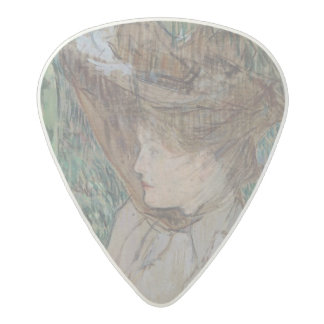 手袋を持つ女性、1891年 アセタール ギターピック