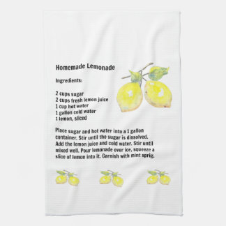 手製のレモネードのレシピの台所タオル キッチンタオル