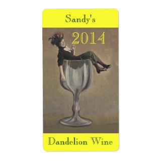 手製のワインのLabels Personalize旧式なおもしろいの女性 ラベル