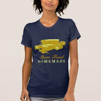 手製の遅い食糧 Tシャツ