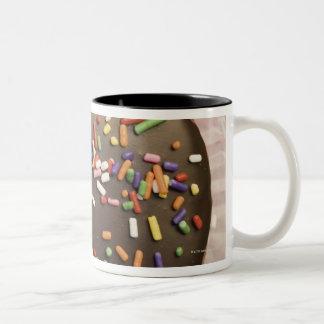 手製チョコレートデザートはとの振りかけます ツートーンマグカップ