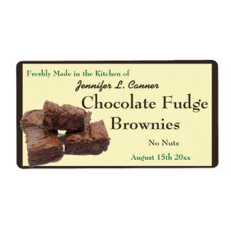 手製チョコレートブラウニーの包装 ラベル