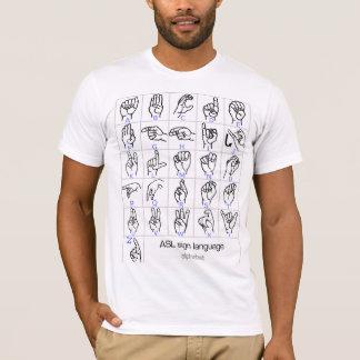 手話のアルファベットのワイシャツ Tシャツ