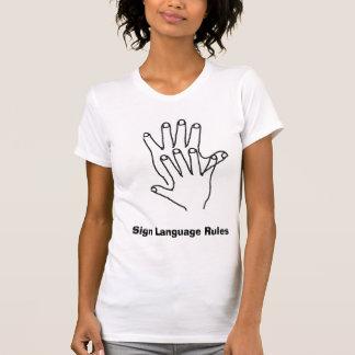 手話の規則 Tシャツ