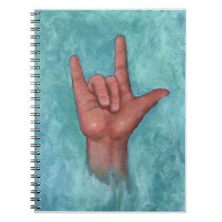 手話: 手: パステル調の芸術: ASL: 愛 ノートブック