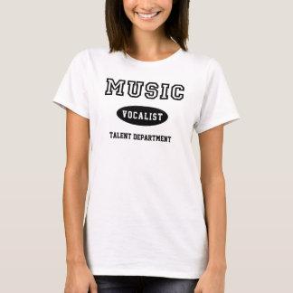 才能部のための音楽ボーカリスト Tシャツ