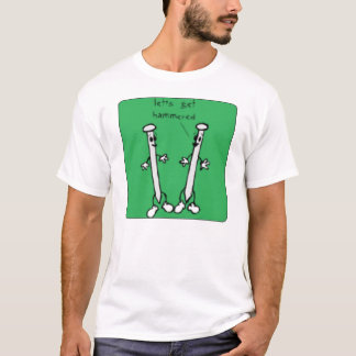 打たれて下さい Tシャツ