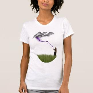 打たれる稲妻 Tシャツ
