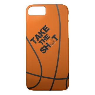 打撃のバスケットボールを取って下さい iPhone 7ケース