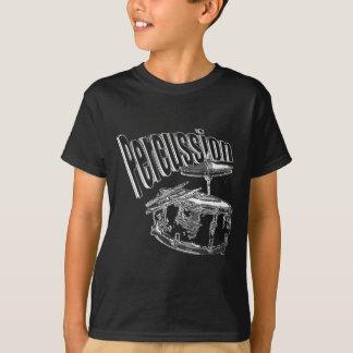 打楽器の銀 Tシャツ