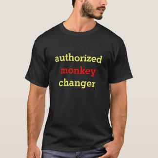 承認された猿のチェンジャー Tシャツ