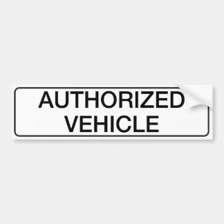 承認された車 バンパーステッカー