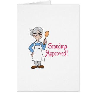 承認される祖母 グリーティングカード