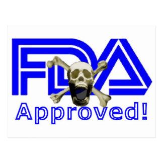 承認されるFDA ポストカード