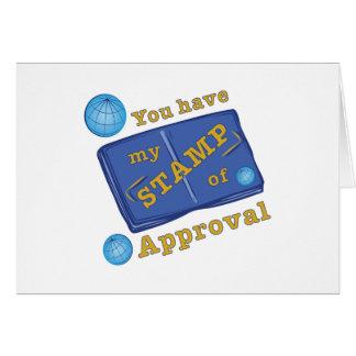 承認のスタンプ カード