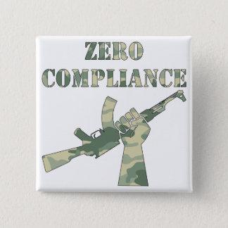 承諾のカラシニコフ自動小銃のゼロ迷彩柄 5.1CM 正方形バッジ