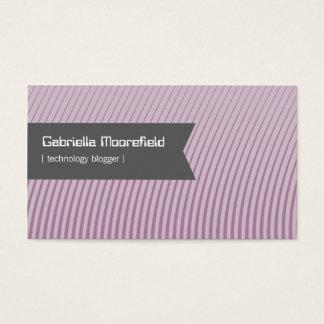 技術のブロガーの紫色の接触の名刺 名刺