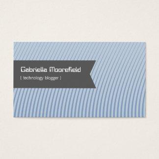技術のブロガーの青い接触の名刺 名刺