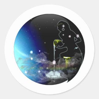 技術の地下牢の(占星術の)十二宮図-アクエリアス ラウンドシール