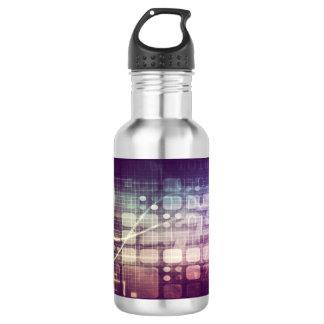 技術の未来派の抽象的な概念 ウォーターボトル