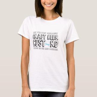 技術ビールカスタードレディースTシャツ Tシャツ