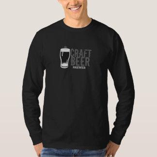 技術ビール醸造業者の黒及び白 Tシャツ