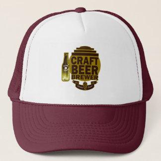 技術ビール醸造業者-バーガンディまたは金ゴールドのロゴ キャップ