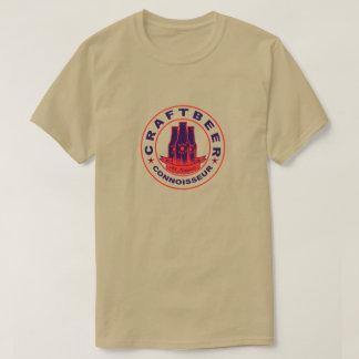 技術ビール鑑識家の紫色の赤 Tシャツ