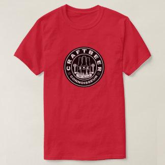 技術ビール鑑識家の黒及び白 Tシャツ