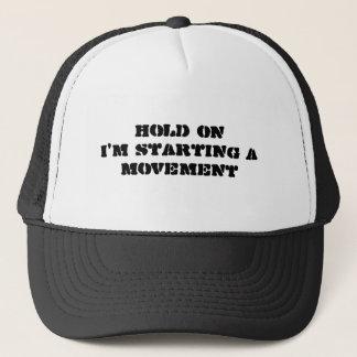 把握私は動きのTシャツを始めています キャップ