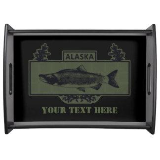 抑制されたアラスカの戦闘の漁師のバッジ トレー