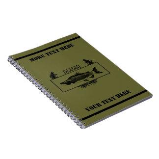 抑制されたアラスカの戦闘の漁師のバッジ ノートブック