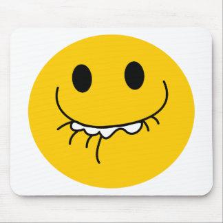 抑制された笑う黄色いスマイリーフェイス マウスパッド