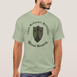 抑制された第72 Ordの大隊パッチCOMZEUR/TASCOM Tシャツ