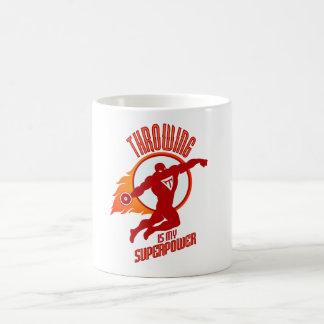 投げる円盤投げは私の超出力です コーヒーマグカップ