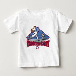 投げる扱いにくい野球のTシャツ ベビーTシャツ