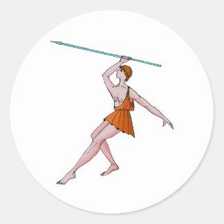 投げ槍のチャンピオン396紀元前に ラウンドシール