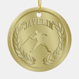 投げ槍金ゴールドによってある調子を与えられるメダルオーナメント セラミックオーナメント