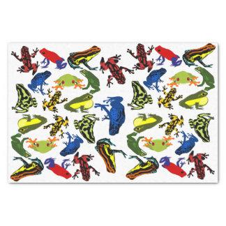 投げ矢のカエル、子供の水陸両生的な木のウシガエルの毒して下さい 薄葉紙