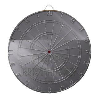 投げ矢のチャクラ101 -灰色の灰色のハッピーバースデー ダーツボード