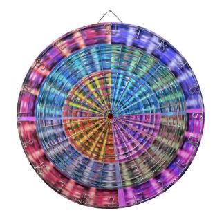 投げ矢のチャクラ105の斜子織の虹の美しい ダーツボード