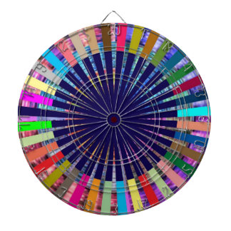 投げ矢のチャクラ107の斜子織の虹の美しい ダーツボード