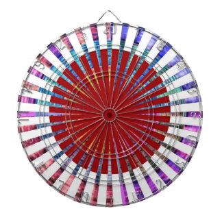 投げ矢のチャクラ109の斜子織の虹の美しい ダーツボード